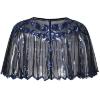 Picture of Vintage Boutique Beaded Sequin Flapper Cape - Black