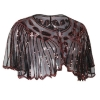 Picture of Vintage Boutique Beaded Sequin Flapper Cape - Red