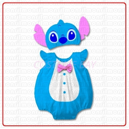 Picture of Baby Rompers Onesie Bodysuit with Hat - Baby Stitch
