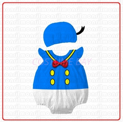 Picture of Baby Rompers Onesie Bodysuit with Hat - Donald Duck
