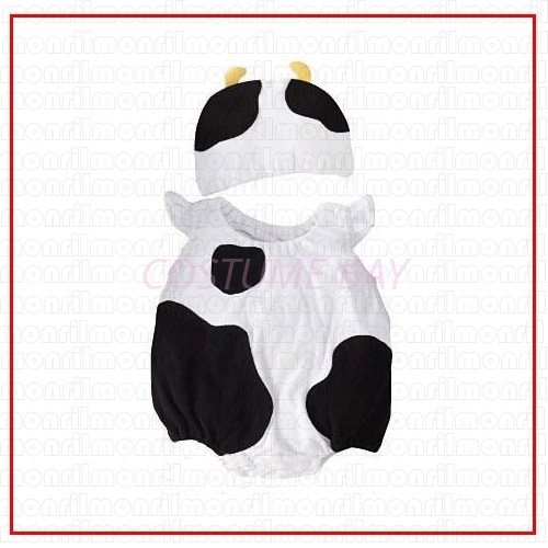 Picture of Baby Rompers Onesie Bodysuit with Hat - Cow