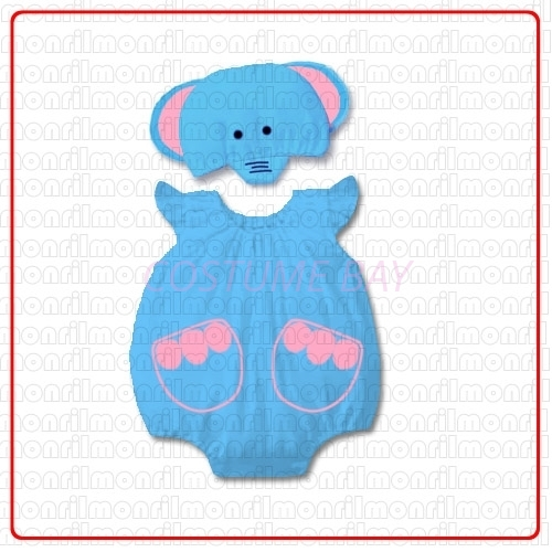 Picture of Baby Rompers Onesie Bodysuit with Hat - Elephant