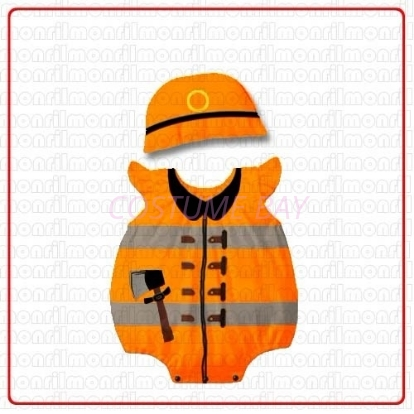 Picture of Baby Rompers Onesie Bodysuit with Hat - Fireman