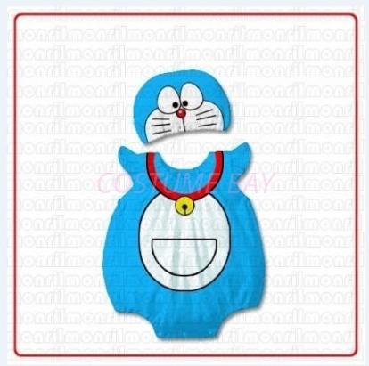 Picture of Baby Rompers Onesie Bodysuit with Hat-Doraemon