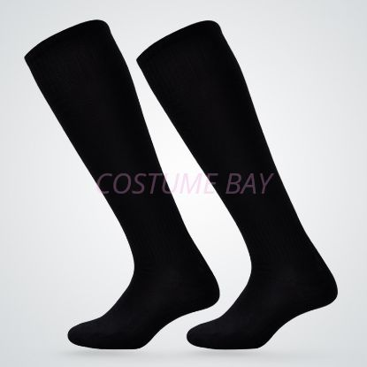 Picture of Mens High Knee Football Socks - Black