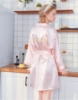 Picture of Women Bridemaid  Satin Kimono Robes - Pink