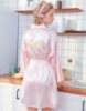 "Picture of Women Bridal ""Bride"" Satin Kimono Robes - Pink"