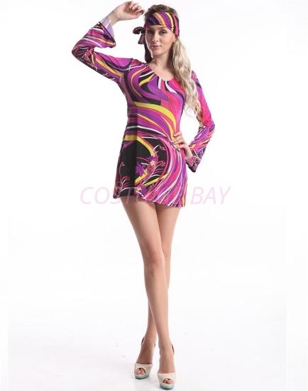 Picture of Woman Retro Hippie-001 Purple