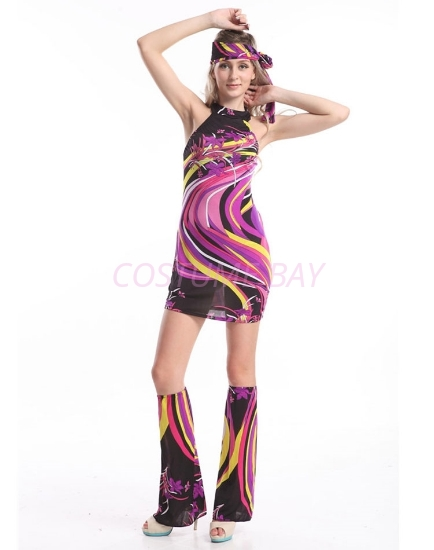 Picture of Woman Retro Hippie-002 Purple