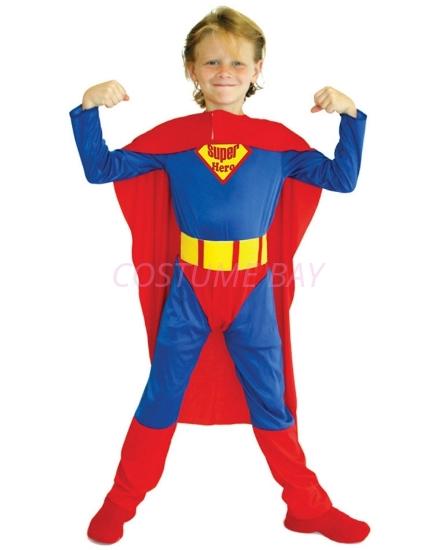 Picture of Boys Superhero Superman Costume