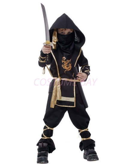 Picture of Boys Superhero Ninja Costume -Black