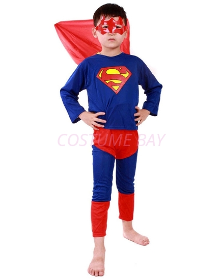 Picture of Boys Superhero Superman Costume -B