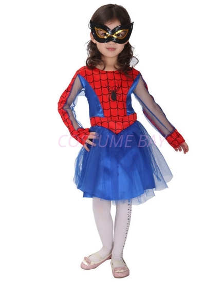 Picture of Girls Spidergirl Superhero Costume -Blue