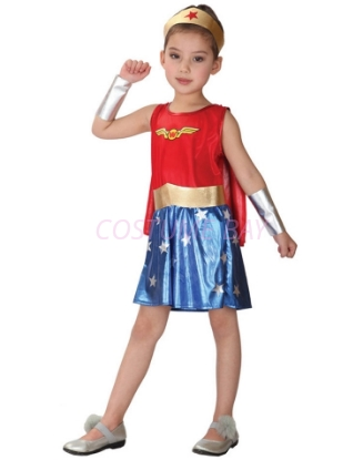 Picture of Girls Wondergirl Superhero Costume