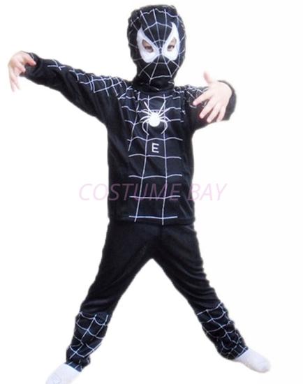 Picture of Boys Superhero Spiderman Costume -Black