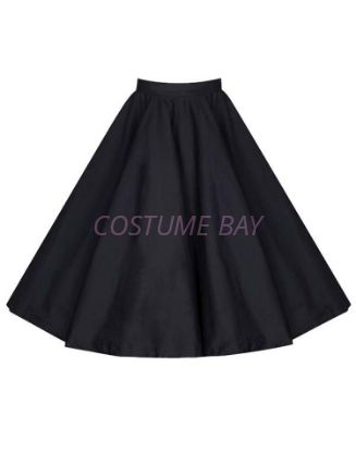 Picture of 50s 60s Vintage Rockabilly Swing Skirt - Black