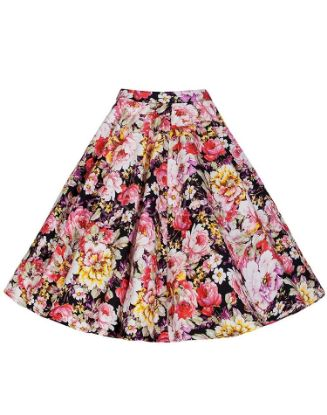Picture of 50s 60s Vintage Rockabilly Swing Skirt - Flowers Skirt