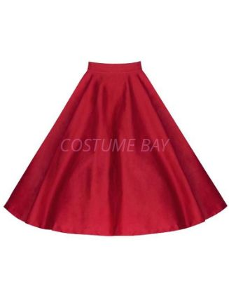 Picture of 50s 60s Vintage Rockabilly Swing Skirt - Red Skirt