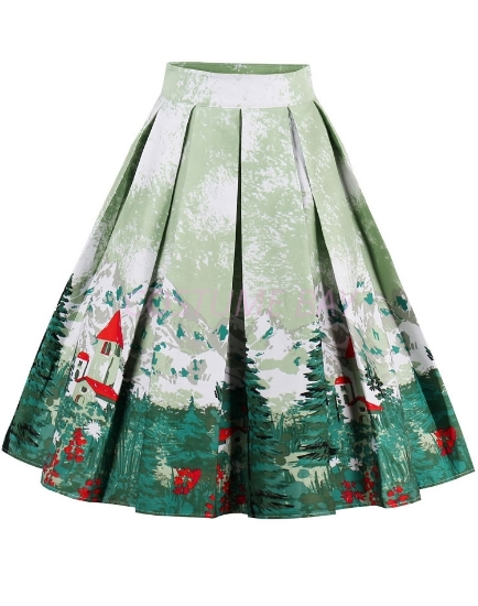 Picture of Xmas 50s 60s Vintage Rockabilly Swing Skirt - Skirt Xmas