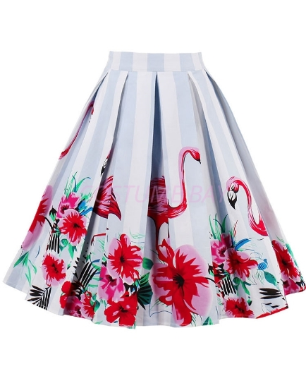 Picture of Xmas 50s 60s Vintage Rockabilly Swing Skirt - Skirt Flemingo