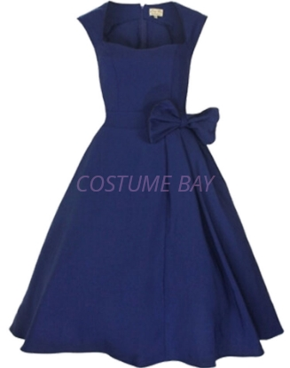 Picture of Rockabilly 50s 60s Vintage Evening Retro Pinup Swing Cocktail Dress-Dark Blue