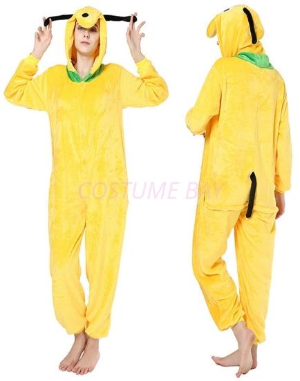 Picture of Yellow Dog Onesie Pyjamas Animal Costume Jumpsuit AU
