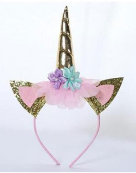 Picture of Girls Gold Unicorn Headband