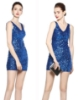 Picture of 1920s Flapper Cocktail Sequin Dress - Blue