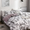 Picture of White Marble Bed Duvet Cover Set