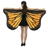 Picture of Woman's  Soft Fabric Orange Butterfly Wings Cape