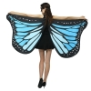 Picture of Woman's  Soft Fabric Purple Butterfly Wings Cape
