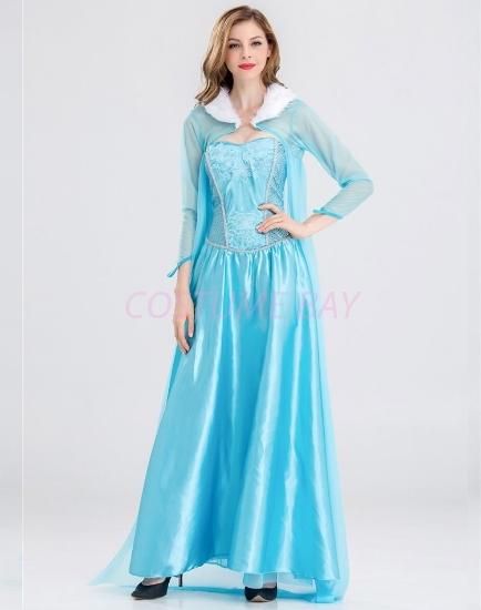 Picture of Adult Ladies Deluxe Frozen Princess Elsa Costume Dress