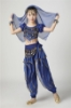 Picture of Girl's Belly Dance Outfits Paillette Ruffles Short Sleeves -Dark Blue