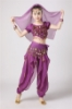 Picture of Girl's Belly Dance Outfits Paillette Ruffles Short Sleeves -Puple