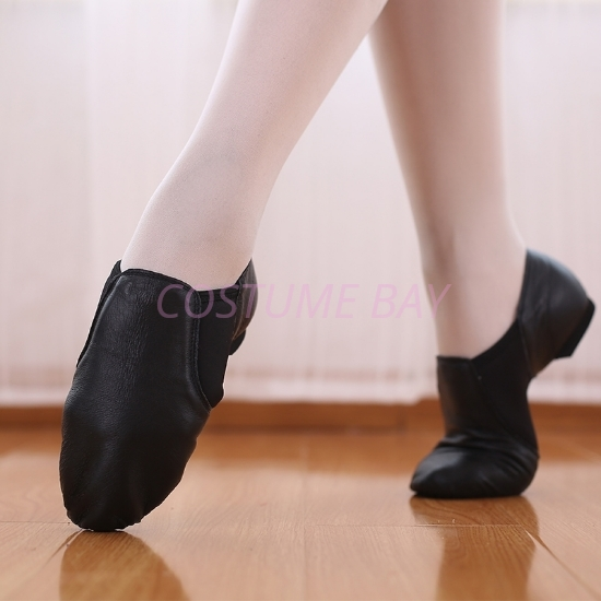 Picture of Jazz Genuine Soft Leather Dance Shoes-Black