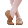 Picture of Jazz Genuine Soft Leather Dance Shoes-Brown