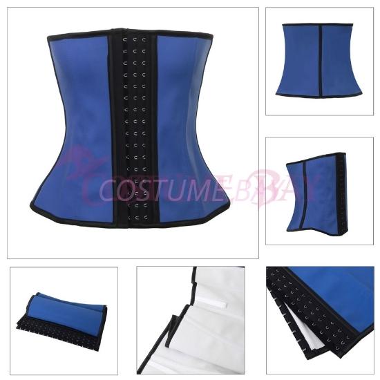 Picture of Women latex Waist Training Corset-Blue