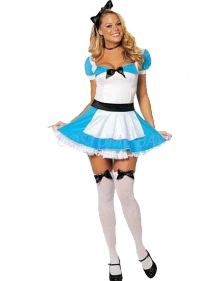 Picture of Womens Alice in Wonderland Fancy Dress Costume