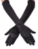 Picture of 1920s Flapper Gatsby Long Satin Gloves-Black