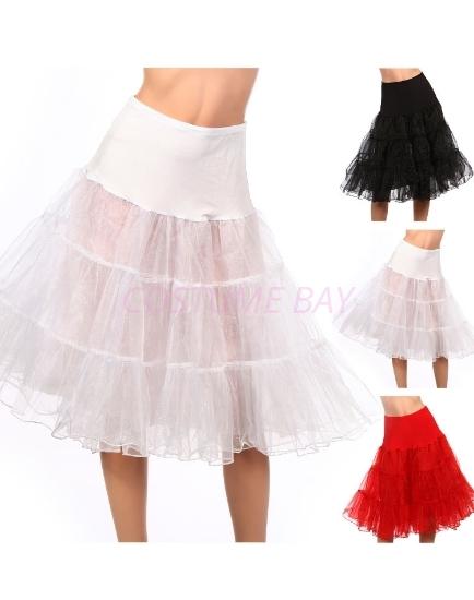 Picture of Retro Rockabilly Petticoat Tutu Costume Underskirt-White