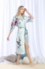 Picture of Women Long Floral Satin Kimono Robes - Pink