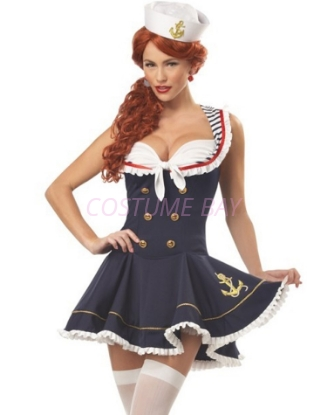 Picture of Navy Sailor Girl Uniform Fancy Dress