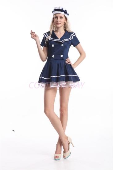 Picture of Navy Sailor Girl Uniform Fancy Dress