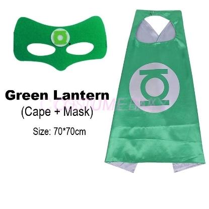 Picture of Kids PJ Superhero Cape &  Mask Set - Green Lantern