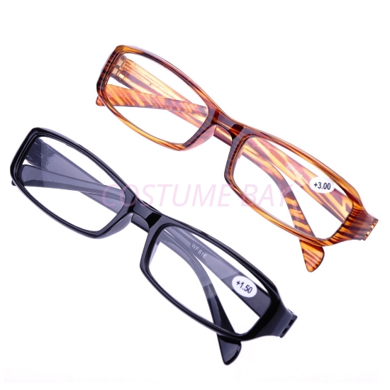 Picture of New Fashion Unisex Rectangular Black Brown Reading Glasses