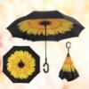 Picture of Upside Down Reverse Umbrella - Sunflower