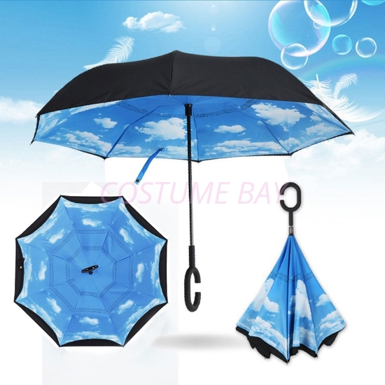 Picture of Upside Down Reverse Umbrella - Blue Sky