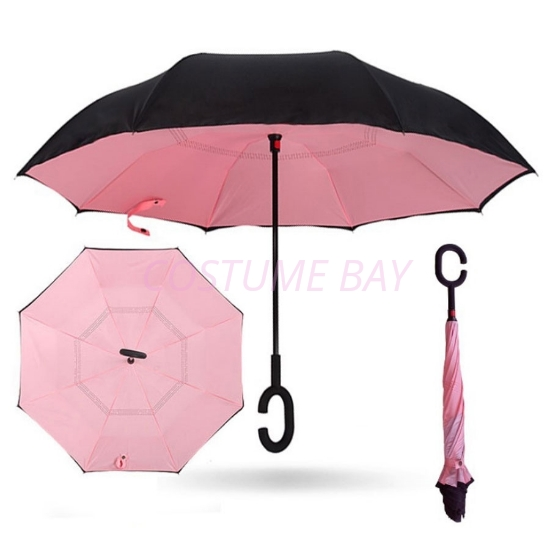 Picture of Upside Down Reverse Umbrella - Pink