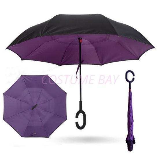 Picture of Upside Down Reverse Umbrella - Purple