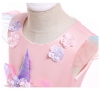 Picture of Girls Princess Unicorn Rainbow Tutu Dress-Pink